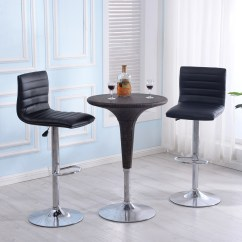 Adjustable Floor Chair With 5 Settings Folding Cost Modern Set Of 2 Bar Stools Leather Swivel Pub