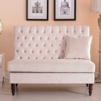 NEW Modern Tufted Settee Bedroom Bench Sofa High Back ...