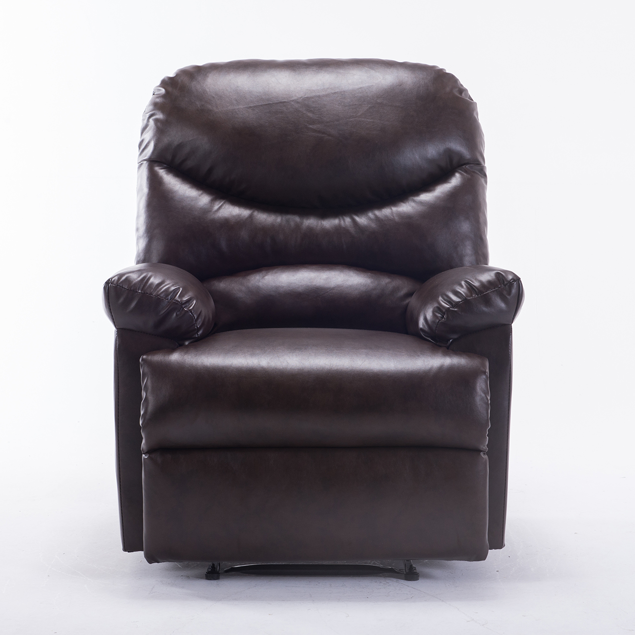 modern black leather recliner chair bamboo papasan new contemporary faux club room