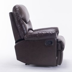 Modern Black Leather Recliner Chair Eames Elephant New Contemporary Faux Club Room
