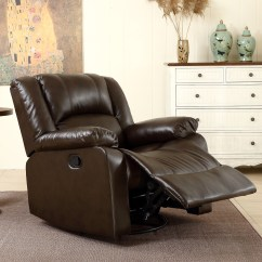 Brown Swivel Chair Kids And Table Set Leather Black Single Seat Living Room Recliner Rocking Details About