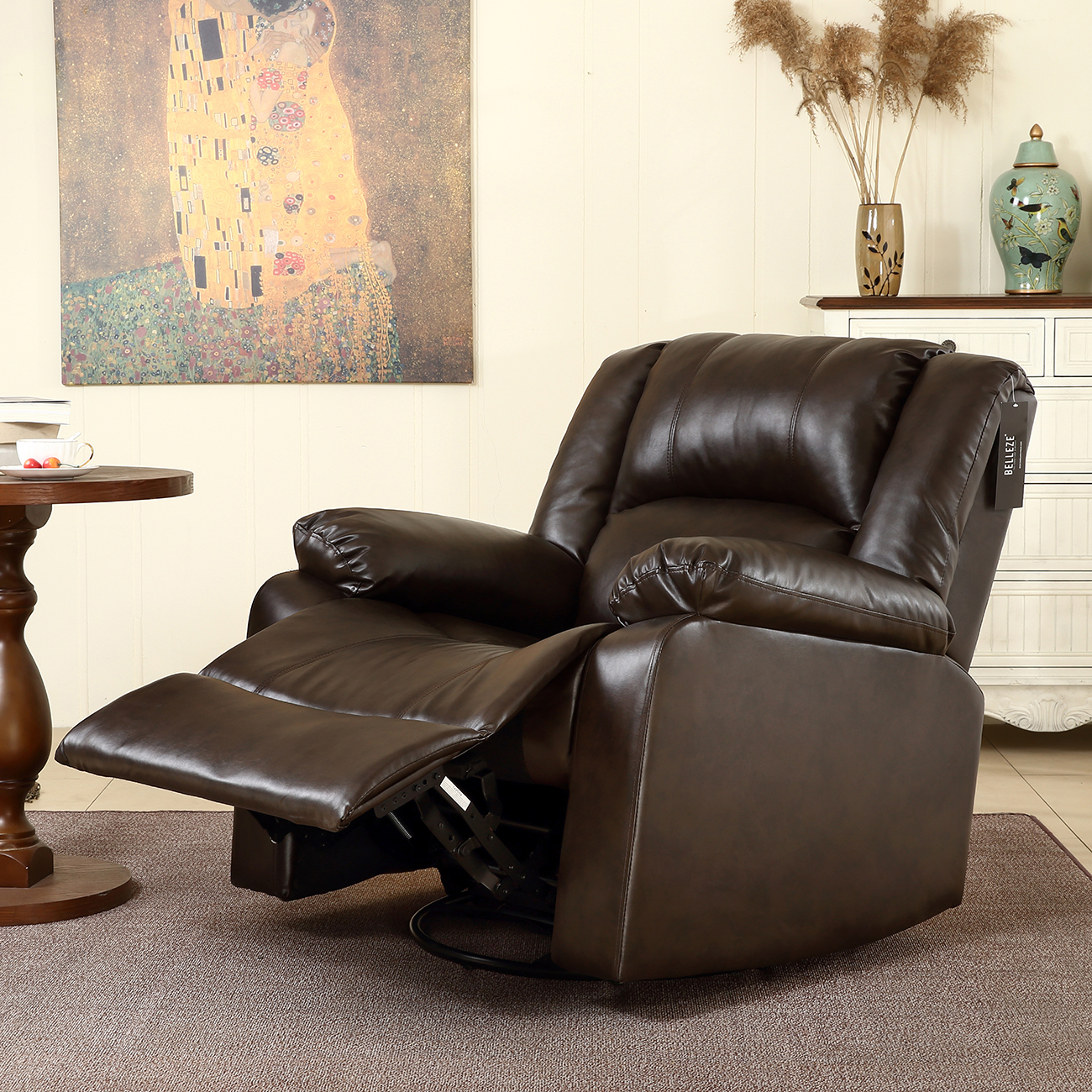 Recliner Rocking Chair New Recliner And Rocking Swivel Chair Leather Seat Living