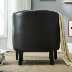 Tub Chair Brown Leather Covers Rental Dublin Club Faux Armchair Seat Accent Living