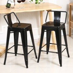 Chair Stool Black Covers Australia Wholesale Low Back 24 Quot Inch Height Counter Stools