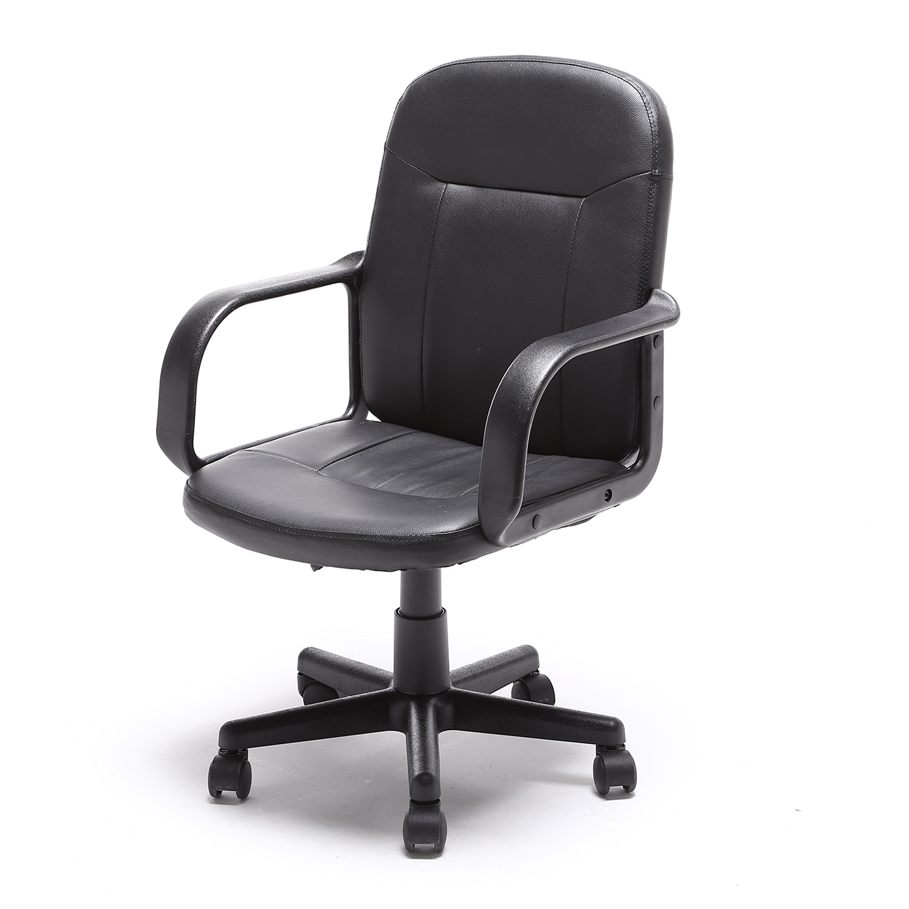 pu leather office chair and a half slipcovers t cushion high back executive ergonomic desk