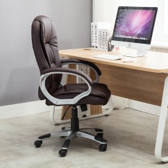 Modern Black Leather Desk Chair Monarch Double X Back Dining Chairs Brown White Pu Executive Computer