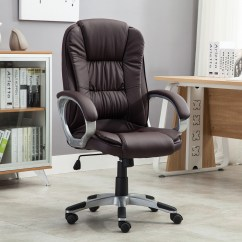 Modern Black Leather Desk Chair Heavy Duty Camping Brown White Pu Executive Computer