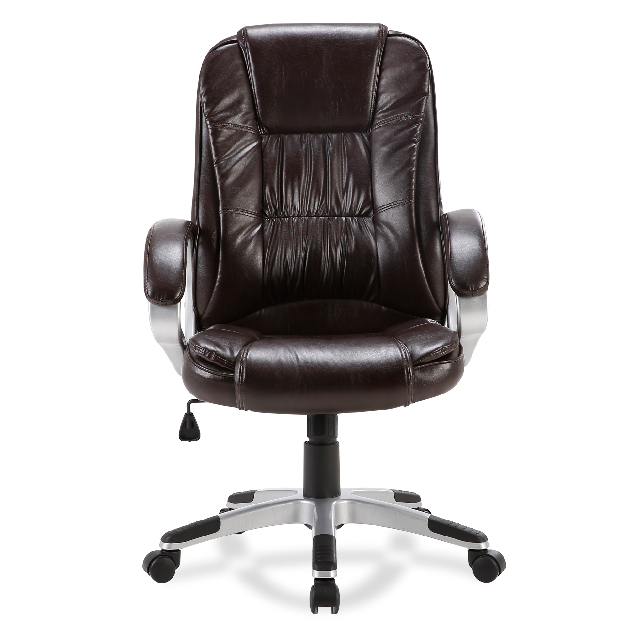 modern black leather desk chair paris cafe chairs sydney brown white pu executive computer