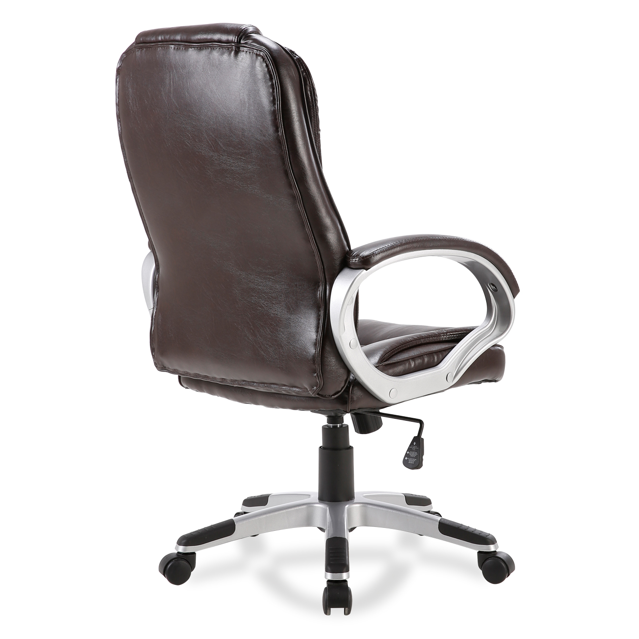 white leather computer chair steel price in kolkata black brown pu modern executive