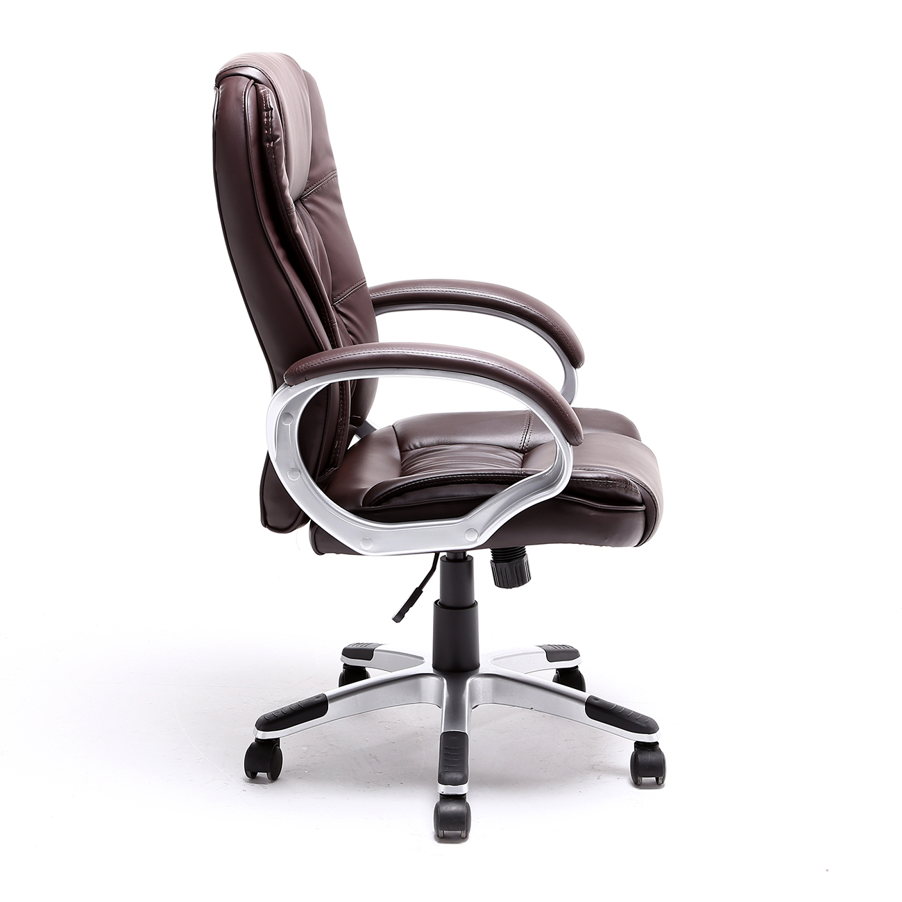 modern black leather desk chair dressing room chairs brown white pu executive computer