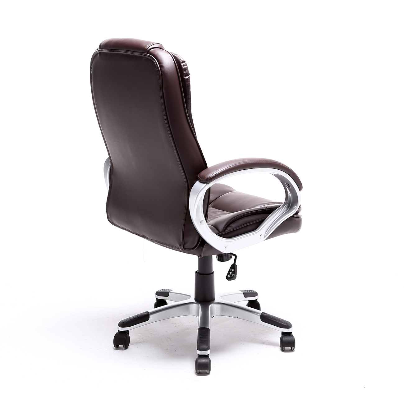 modern black leather desk chair stressless review uk brown white pu executive computer