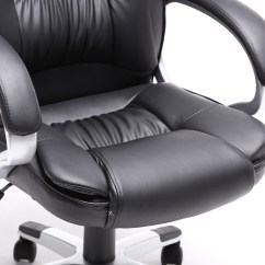 White Leather Computer Chair Emperor Gaming Black Brown Pu Modern Executive