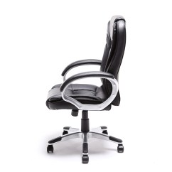 Modern Black Leather Desk Chair Ergonomic Grand And Toy Brown White Pu Executive Computer