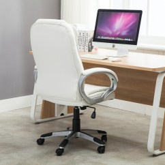 White Leather Computer Chair Wedding Covers Images Pu High Back Office Executive