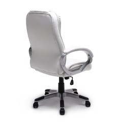 Modern Black Leather Desk Chair Office Chairs Dallas Brown White Pu Executive Computer