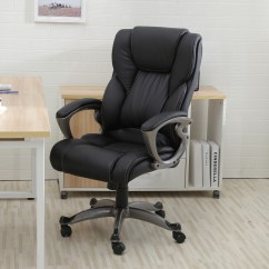 High Quality Office Chairs Ergonomic Dining Chair Slipcovers Cotton Black Pu Leather Back Executive Task Computer Desk