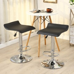 Modern Bar Chairs Wedding Hire Melbourne 2pc Stools Pu Leather Adjustable Swivel