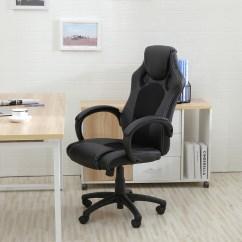 Race Car Office Chair Homedics Elounger Massage High Back Style Bucket Seat Desk
