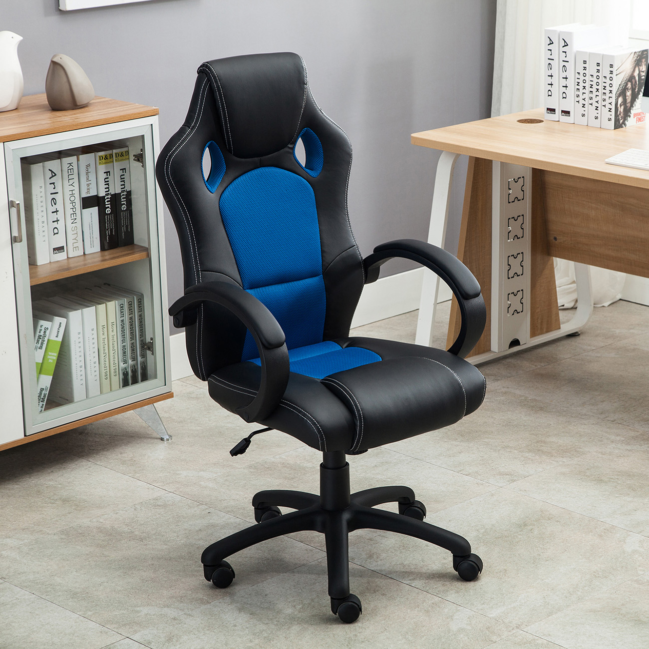 Racing Seat Office Chair High Back Race Car Style Bucket Seat Office Desk Chair