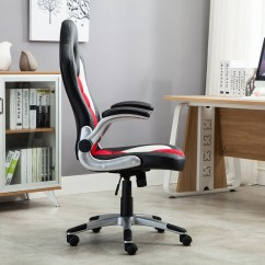 Bucket Racing Chair Wood Beach Office Seat High Back Ergonomic Gaming