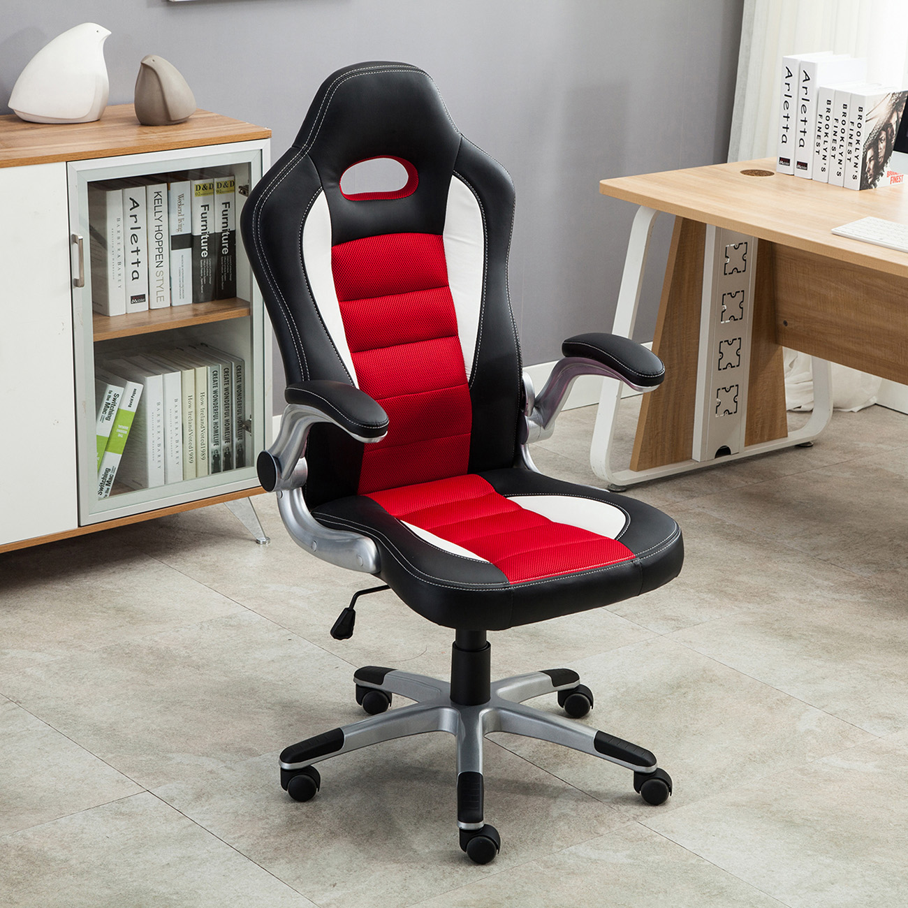 Comfortable Computer Chairs Office Racing Chair Bucket Seat High Back Ergonomic Gaming