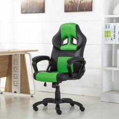 Office Chair Video Game Fuf Bean Bag Ergonomic Computer Pu Leather Desk Swivel