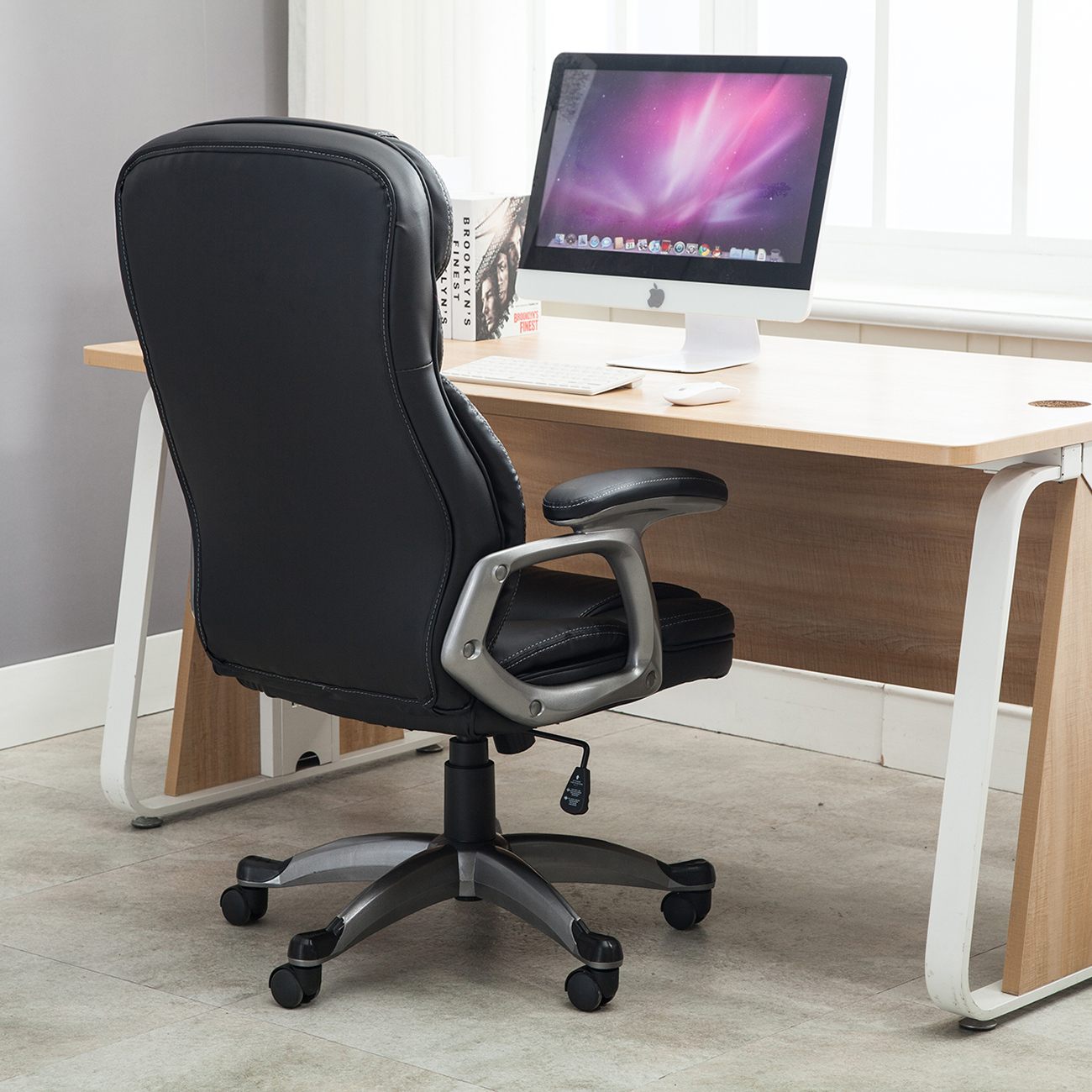 ergonomic chair tilt chalk paint table and ideas executive office pu leather high back desk
