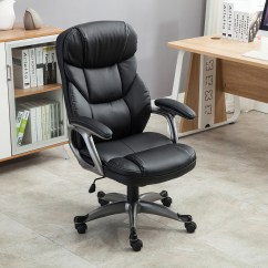 Ergonomic Chair Tilt Correct Posture Kneeling Executive Office Pu Leather High Back Desk