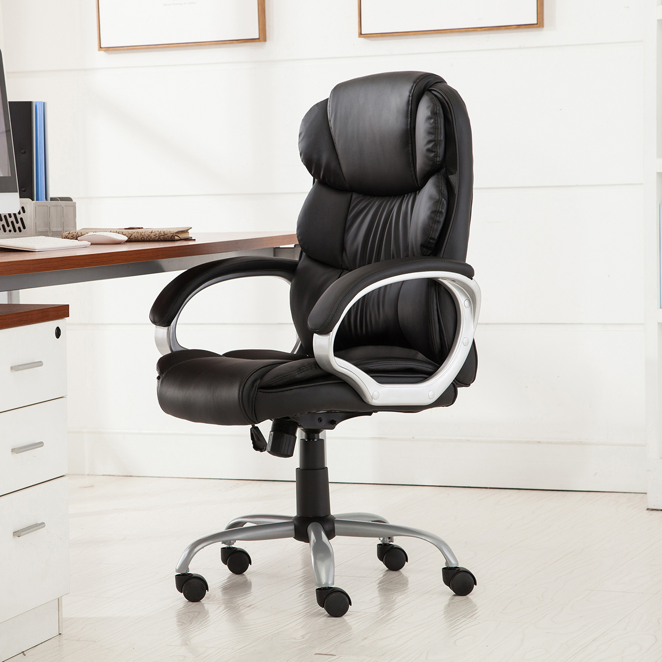 Best Computer Chair For Back Pu Leather Ergonomic High Back Executive Best Desk Task