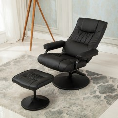 Chair Stool With Footrest Walmart Patio Lounge Chairs Recliner Swivel Armchair Seat W