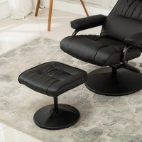 Recliner Chair Swivel Armchair Lounge Seat w/ Footrest ...