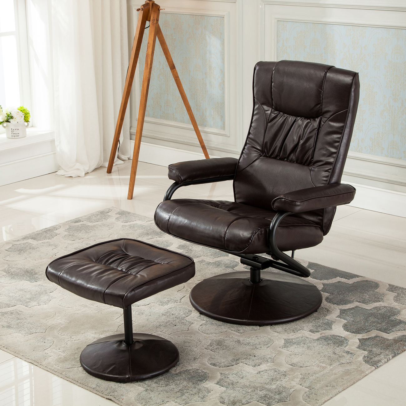 Leather Swivel Recliner Chairs New Executive Faux Leather Seat Chair Recliner Swivel