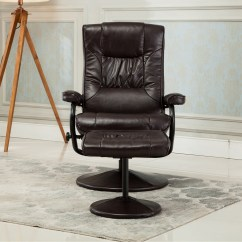 Faux Leather Recliner Chair Sleeper Twin New Executive Seat Swivel