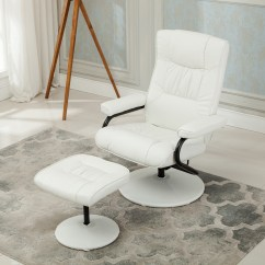 Chair Stool With Footrest Swing No Stand Recliner Swivel Armchair Lounge Seat W