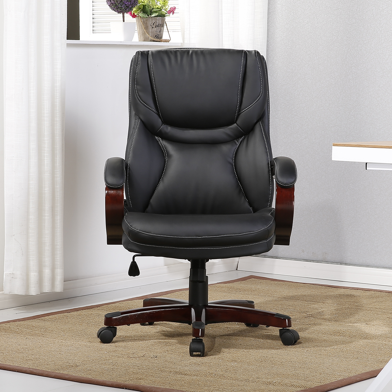 Back Support Office Chair Executive Chair High Back Office Desk Arm Lumbar Support