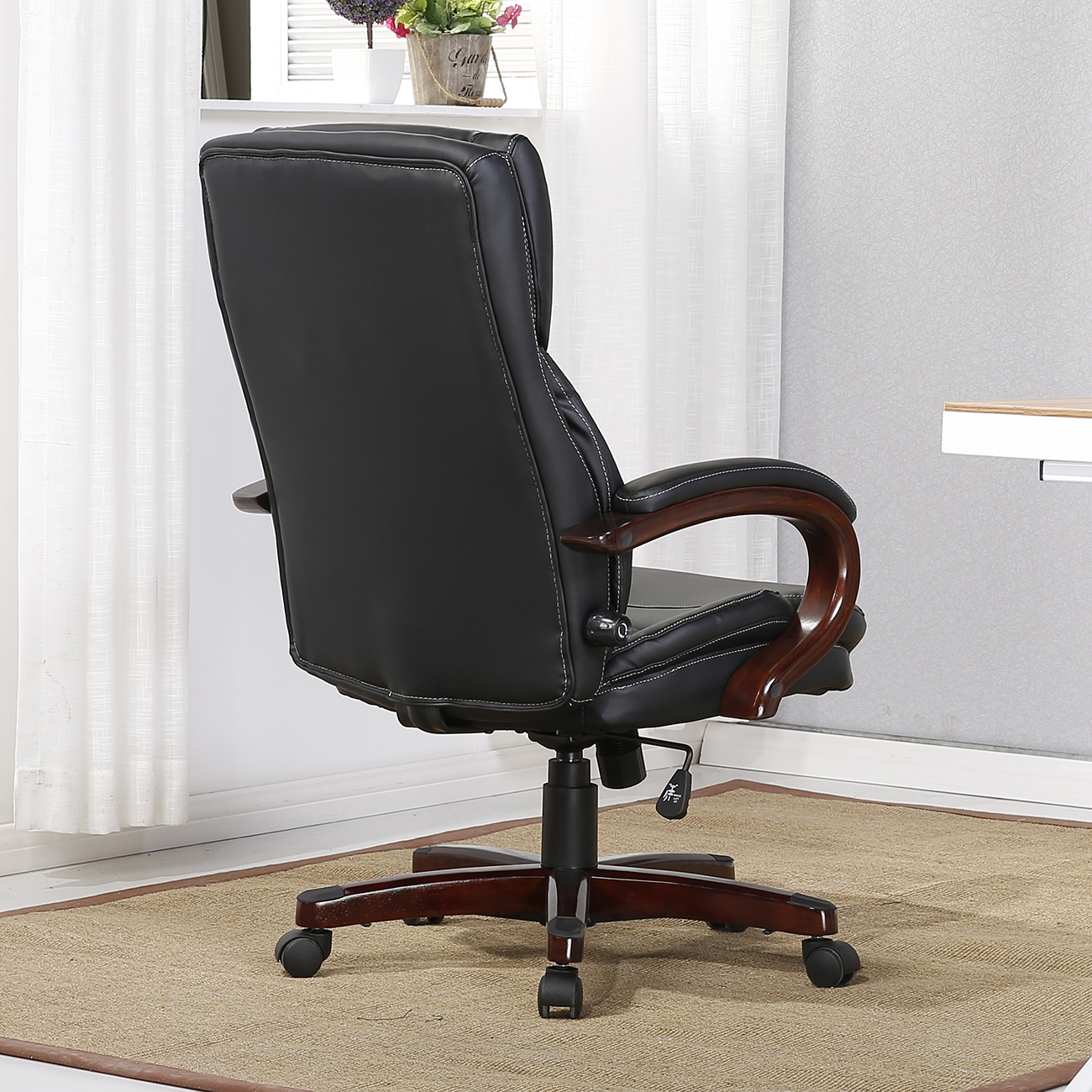 Back Support Chair Executive Chair High Back Office Desk Arm Lumbar Support