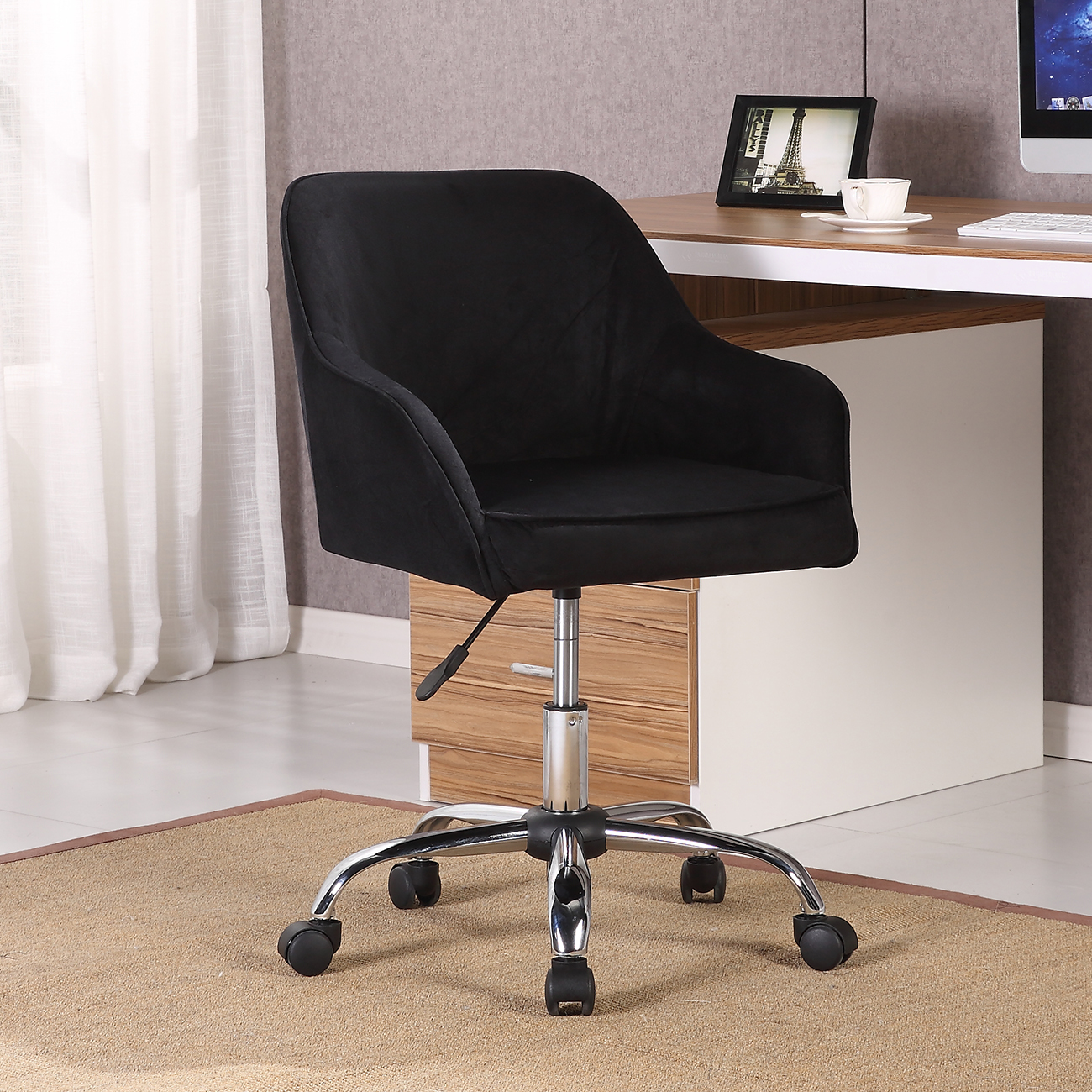 Swivel Desk Chairs Modern Office Chair Task Desk Adjustable Swivel Height W