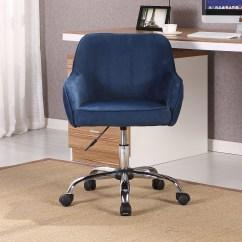 Office Chair Velvet Ottoman 2 Modern Task Desk Adjustable Swivel Height W