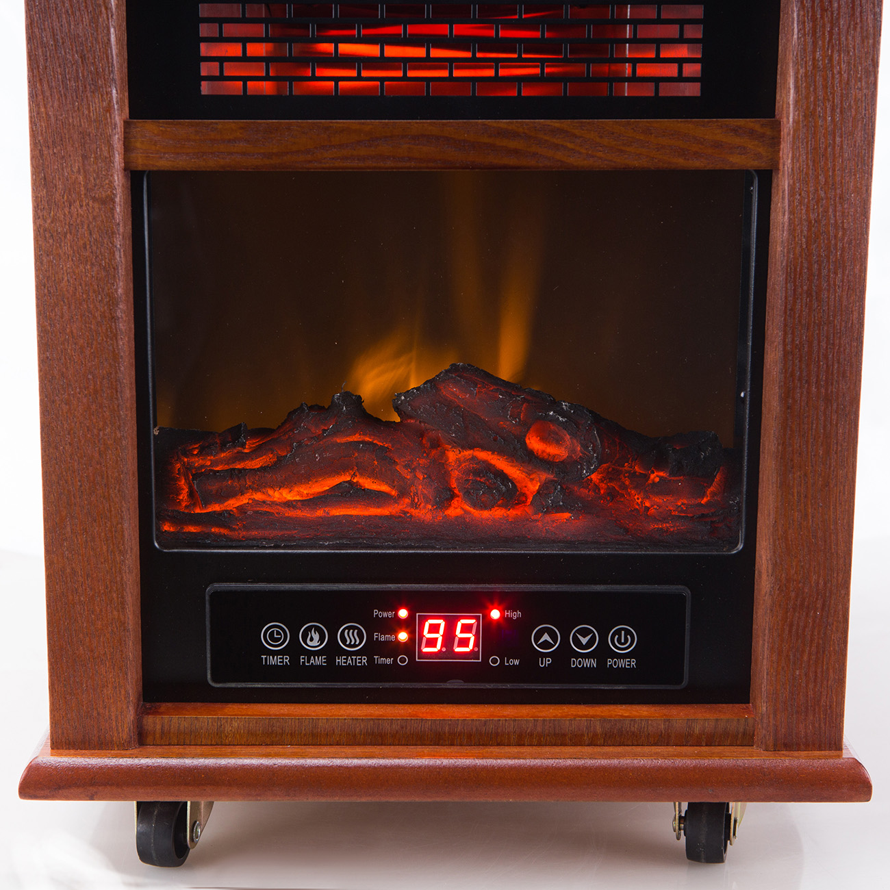 2in1 Portable Infrared Zone Electric Fireplace Quartz 1500W Heater wRemote  eBay