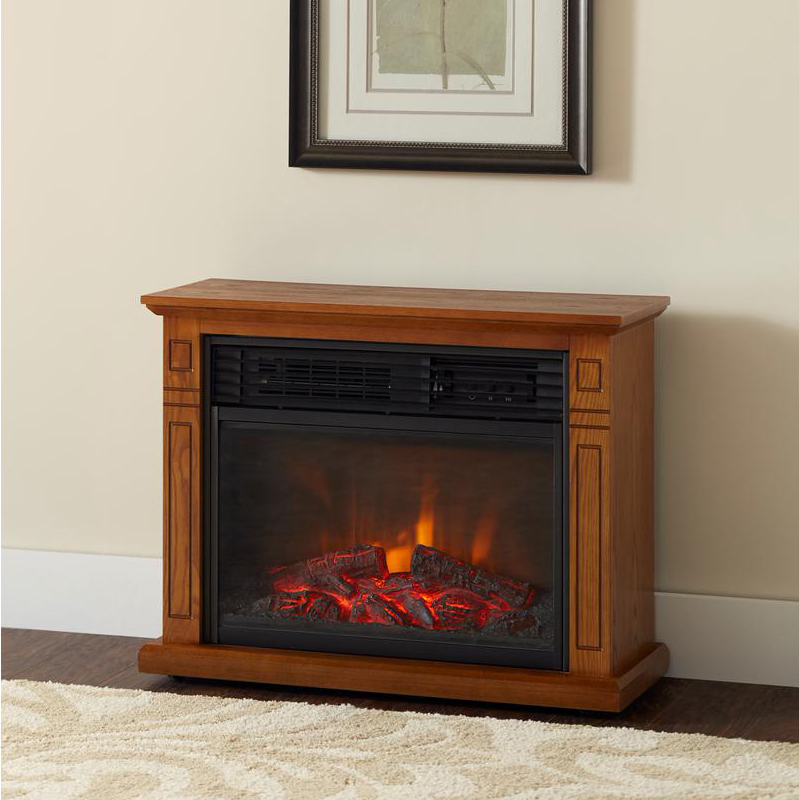 1500W Infrared Quartz Large Electric Fireplace Heater Realistic Flame w Remote