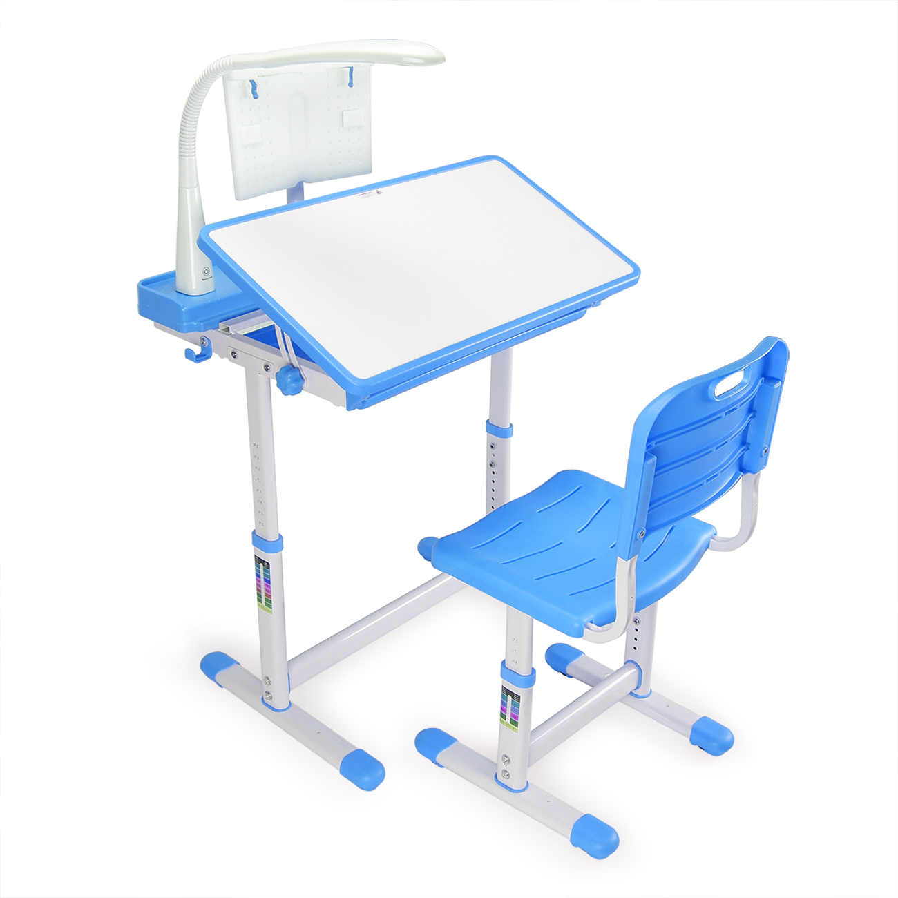 Kids Chair Desk Details About Adjustable Blue Children S Study Desk Table Chair Set Child Kids With Led Lamp