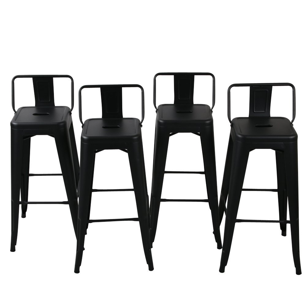 low back lawn chair office good for new indoor outdoor stool counter height stools details about black set of 4