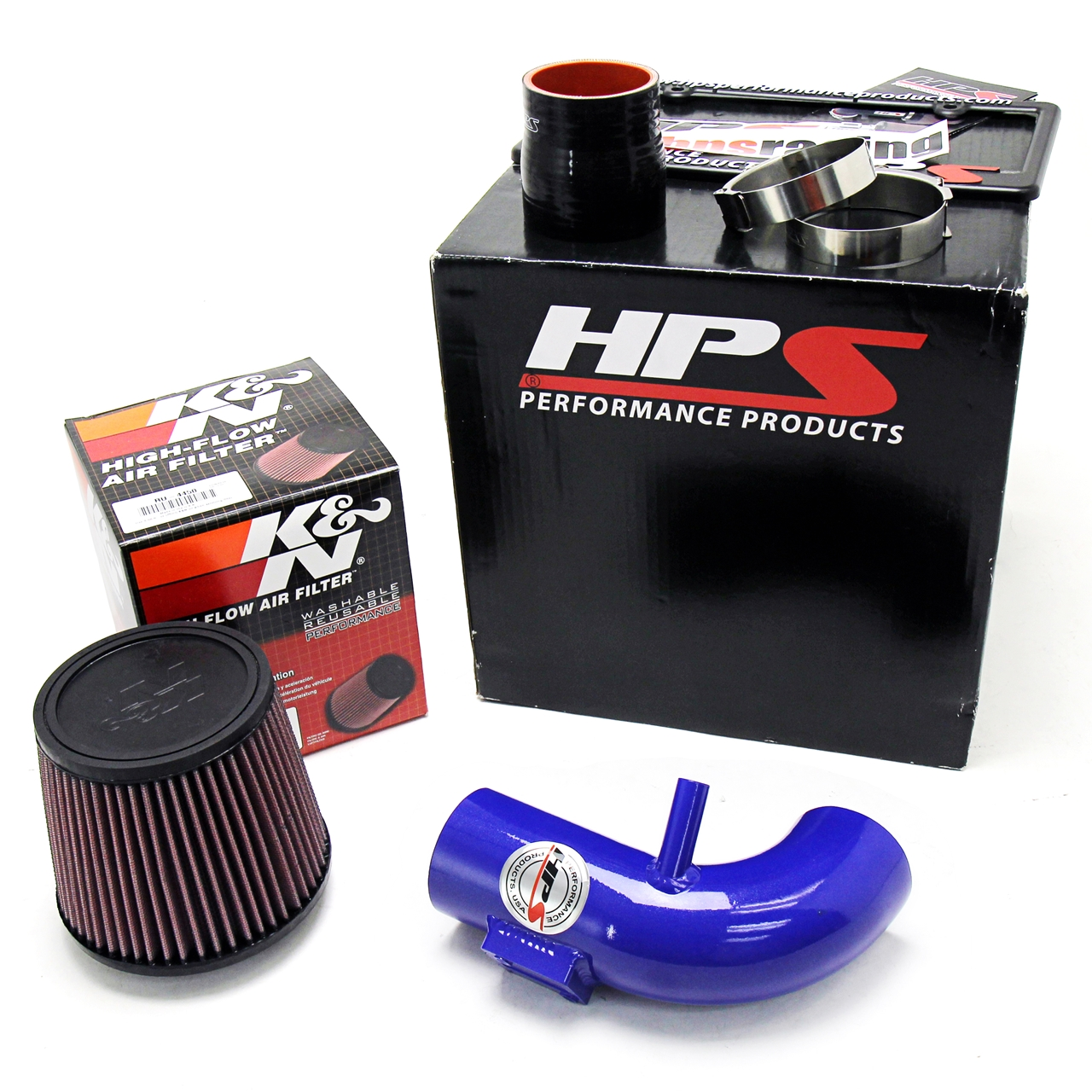 hight resolution of hps blue shortram cool air intake kit for