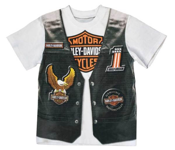 Harley-davidson Little Boys' Printed- Motorcycle Vest