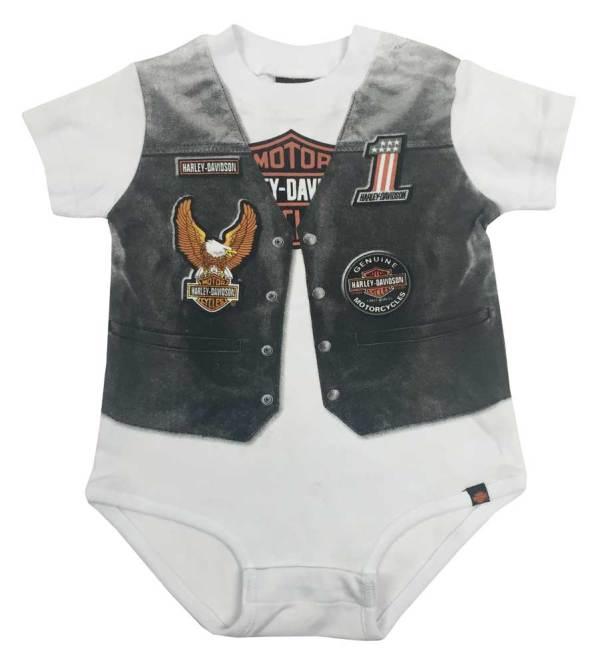 Harley-davidson Baby Boys' Printed- Motorcycle Vest