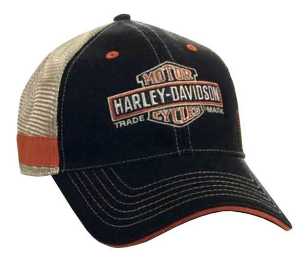 Harley-davidson Men' Embroidered Long Bar & Shield Mesh
