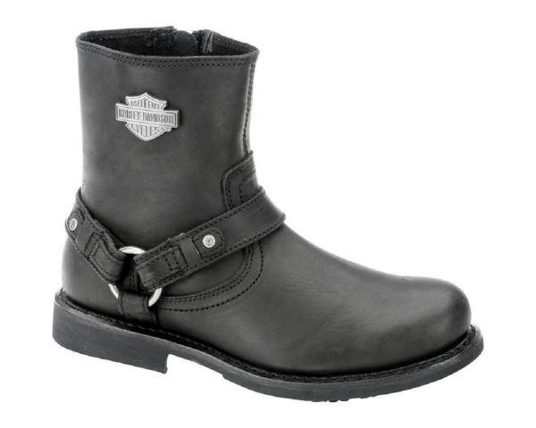 Harley-davidson Men' Scout Steel Toe Black Leather 7