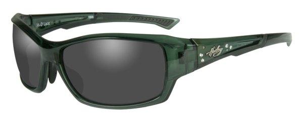HarleyDavidson Womens Rhinestone Lace Sunglasses Gray