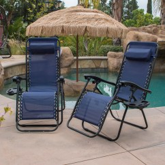 Zero Gravity Pool Chairs Chiavari Rental Case Of 2 Blue Lounge Patio Chair