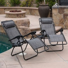 Outdoor Folding Lounge Chairs Cheap Burlap Chair Sashes Zero Gravity Case Of 2 Patio Yard Details About Beach Gray